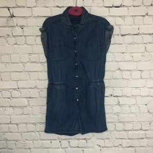 Tommy Hilfiger chambray jumpsuit shorts